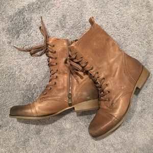 New Vince Camuto Distressed Combat Boots